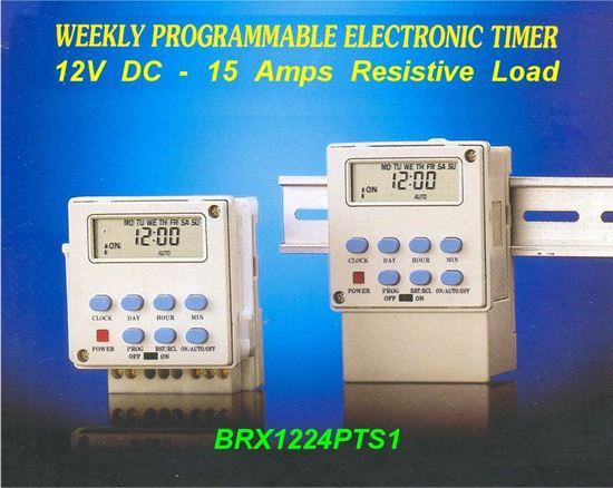 Picture of Programmable 12V DC Timer Switch - 15 Amps