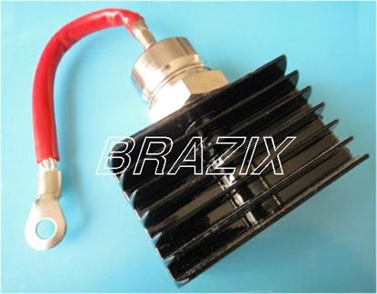 Picture of Rectifier Positive Blocking Diode Stud 50A with Heatsink